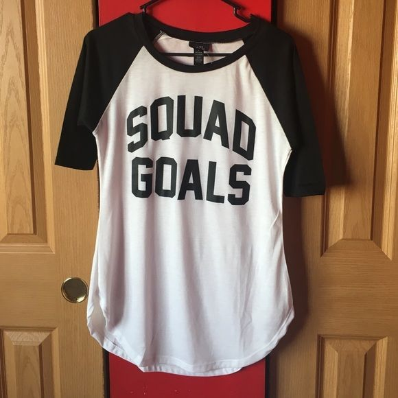 NWOT Squad Goals Tee Worn once to try on. 10/10 condition. Large fits more like a medium. Cheaper on Ⓜ️ Rue 21 Tops