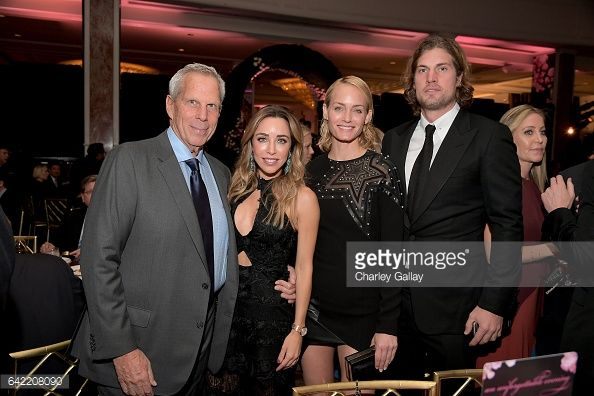 News Photo : Steve Tisch, Katia Francesconi, model Amber...