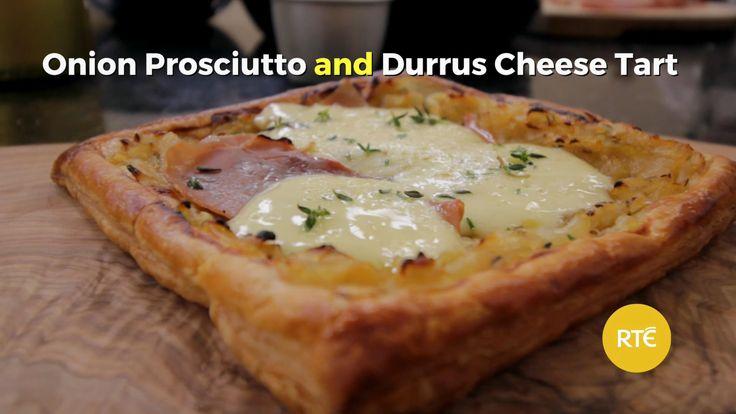 Lynda Booth's Onion, Prosciutto & Durrus Cheese Tart - Dublin Cookery School