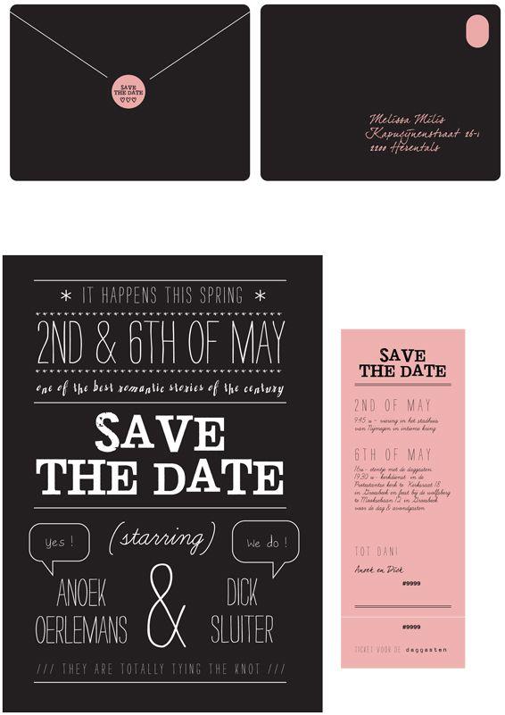 » Trouwkaart ontwerpers delen hun ideeën: wat is hun trouwkaart van het jaar? Deel 12: Melissa Milis » Arnhems Meisje
