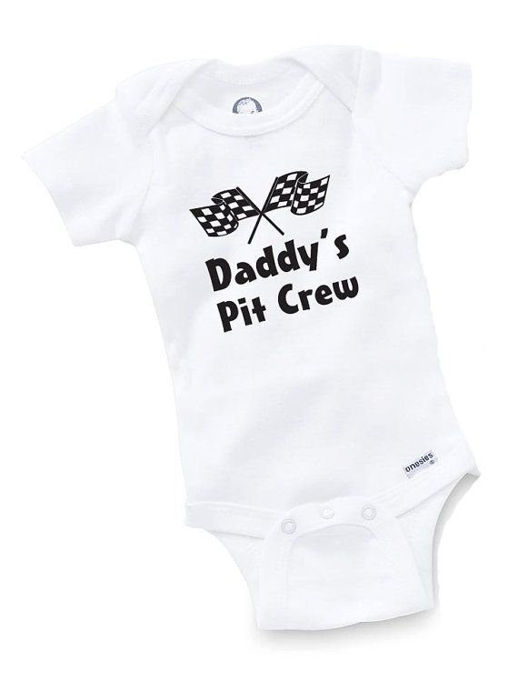 Daddy's Pit Crew Onesie Bodysuit Baby Shower Gift Funny Geek Nerd Cute Racing Racer TruckRace Car Driver Motocross Motorcycle on Etsy, $8.99