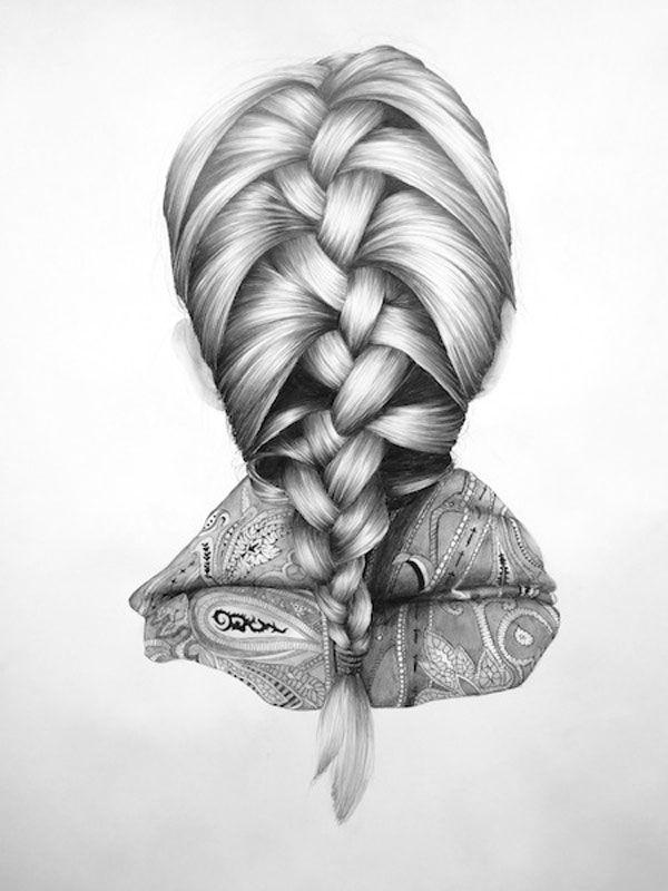 Superbes crayonnés de coiffures par Nettie... Dessin au