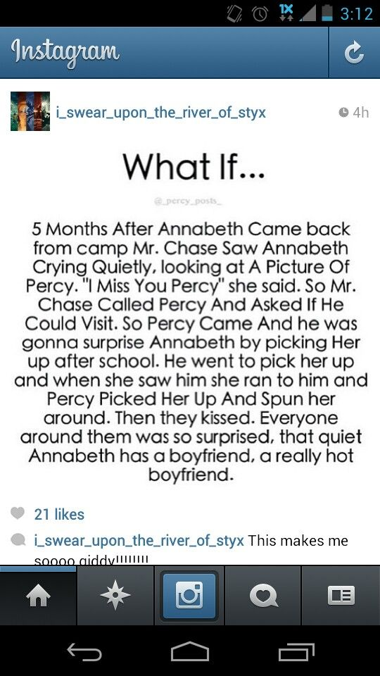 """...quiet Annabeth has a boyfriend, a really hot boyfriend."" ♡ I love this so much really really hot boyfriend"