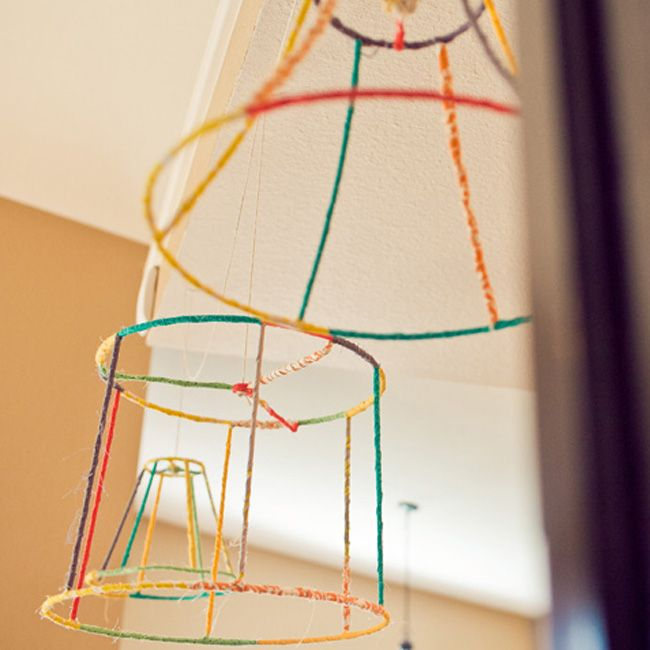 Yarn wrapped lamp shade crafthubs yarn covered lamp shade frames make it already pinterest greentooth Image collections