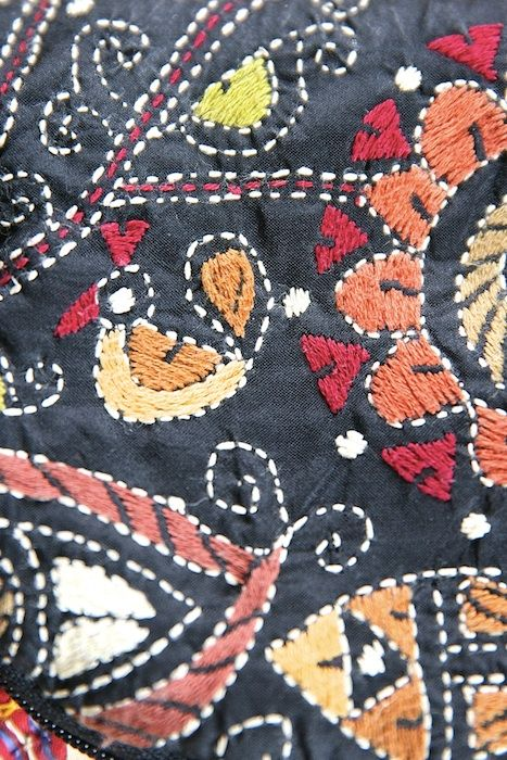 Kantha work embroidery detail. There's always a bird somewhere! #kantha Image credit/copyright: the curated magazine