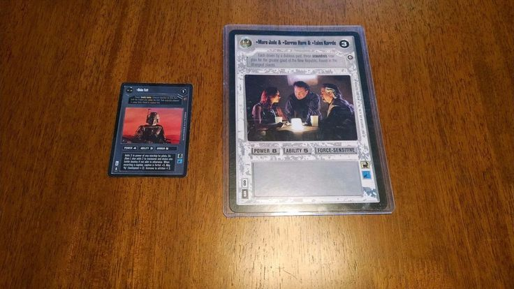 CCG Complete Sets 183459: Star Wars Ccg Swccg Oversized Mara Jade, Corran Horn, Tallon Karde M Nm -> BUY IT NOW ONLY: $50 on eBay!