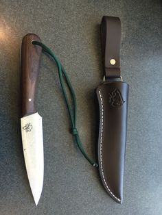 Building A Micro-Homestead - noonski1: My PKS Bushcraft Basic knife with dangle...