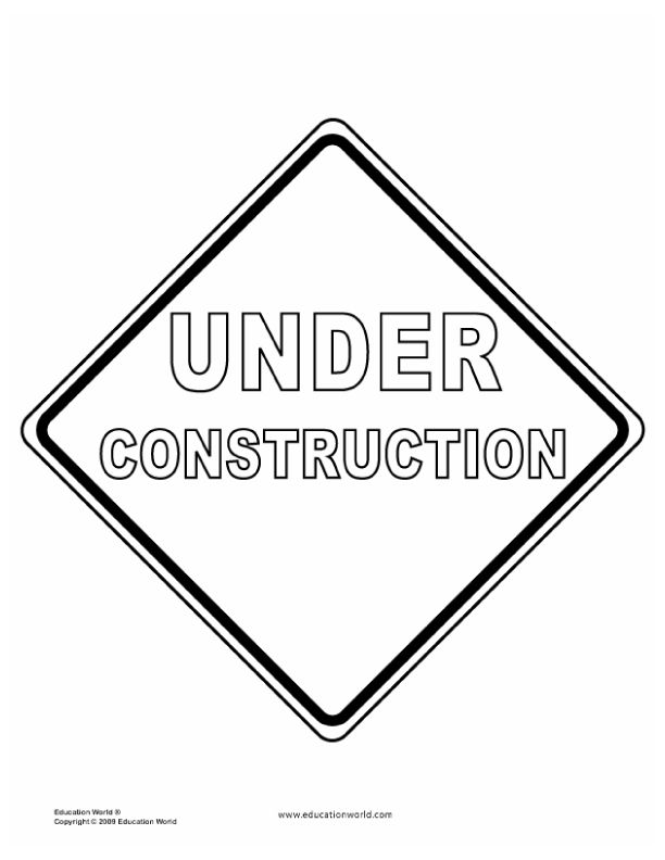 education world teacher tools templates traffic signs az coloring pages printable construction coloring pages