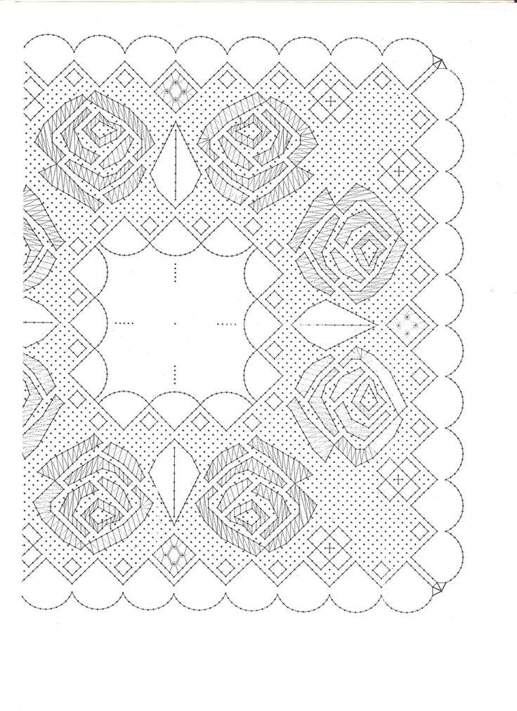 Patrón pañuelo de flores