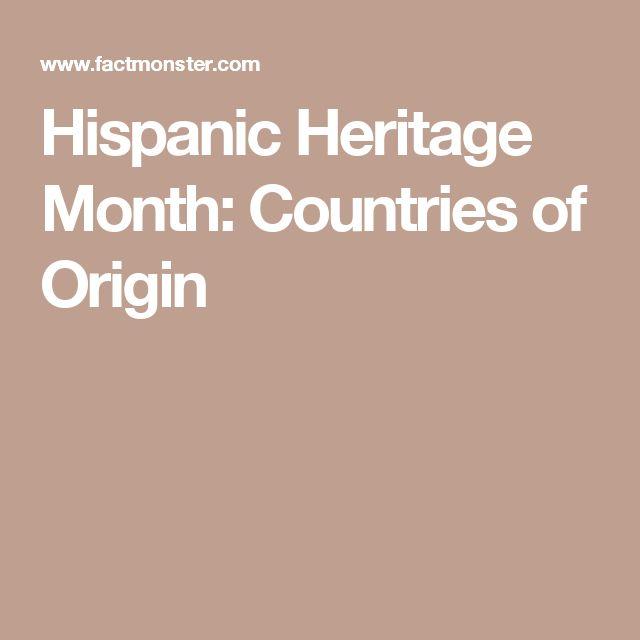 hispanic heritage month countries of origin