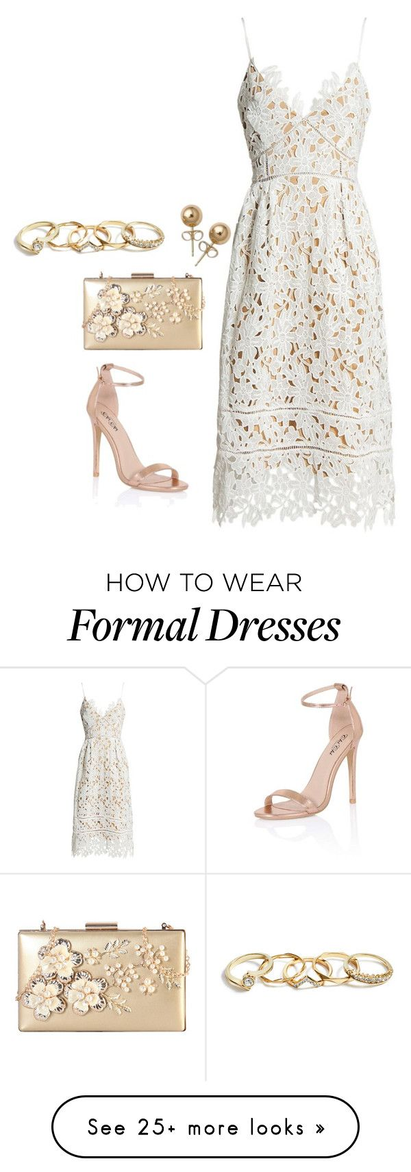 """""""Formal"""" by catalina-218 on Polyvore featuring Sans Souci, Chi Chi, Rimen & Co., Bling Jewelry and GUESS"""