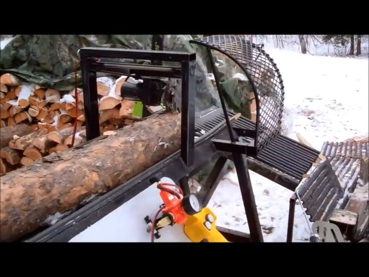 Watch the DIY Homemade Firewood Processor from Scrap build video