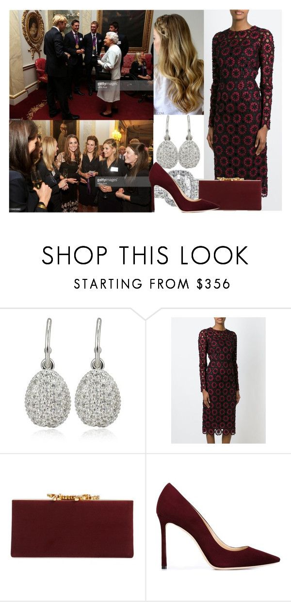 """""""Attending a reception held for Team GB Olympic and Paralympic London 2012 medalists at Buckingham Palace"""" by alexandraofwales ❤ liked on Polyvore featuring Links of London, Dolce&Gabbana, Reception and Jimmy Choo"""