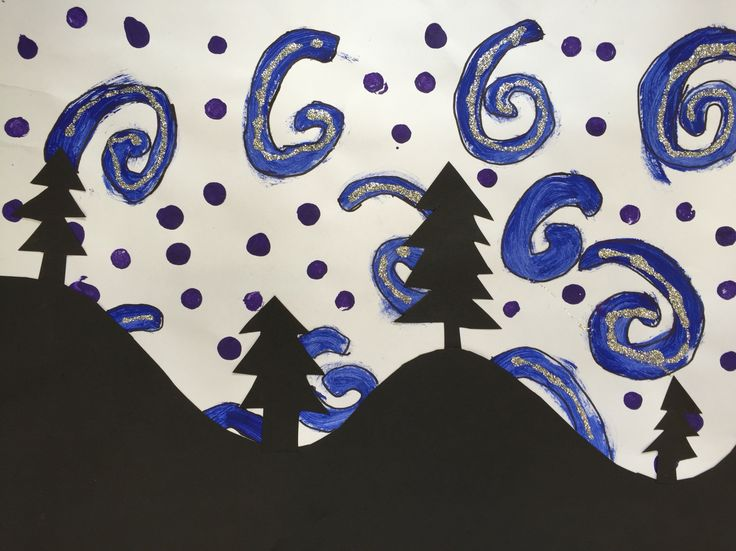 A silhouette of Winter- grade two