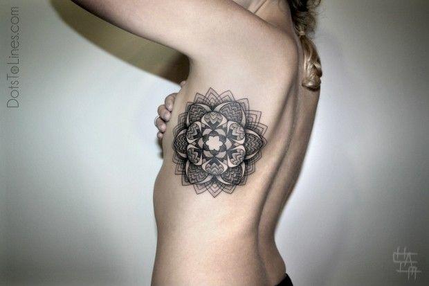 Dots To Lines - Tatouage Artistique
