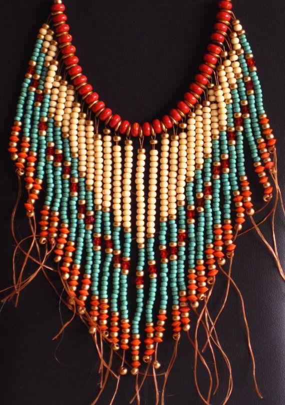 Native American style tribal fringed por MontanaTreasuresbyMJ