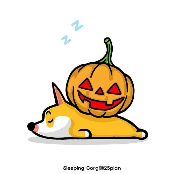 #슬리핑코기 #웰시코기 #캐릭터 #일러스트 #개 #반려견 #강아지 #잠자는개 #개뼈 #SleepingCorgi #Sleep #dog #WelshCorgi #Character #Corgi #illustration #Halloween