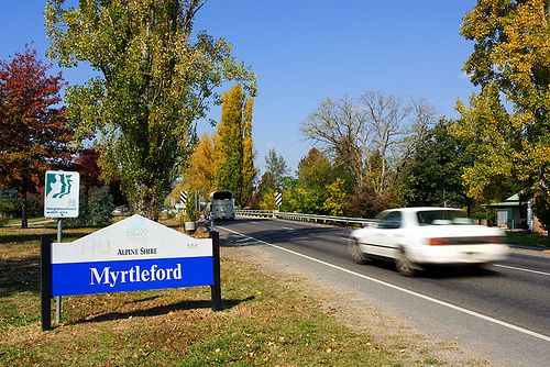 Myrtleford, Victoria, Australia, Great Alpine Road  Love this little town. Great food and wine.