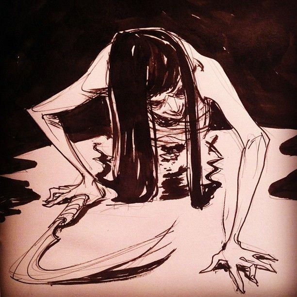 Il teke teke è una creatura protagonista di una leggenda metropolitana giapponese e sarebbe lo spirito di una ragazza con il corpo tagliato a metà.