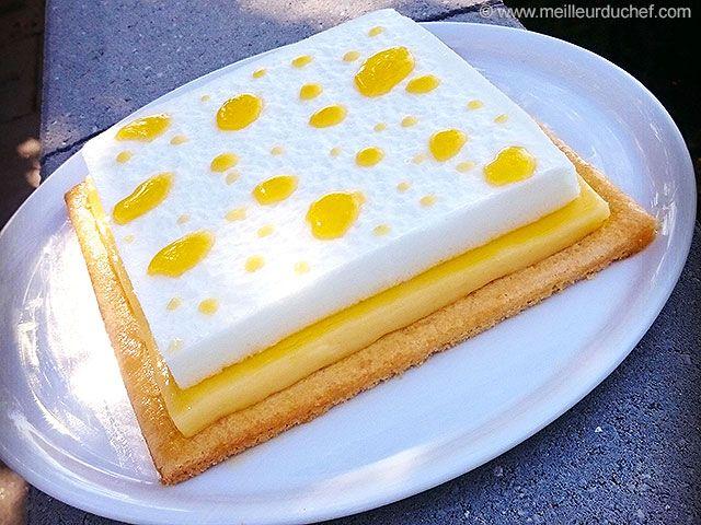 Tarte carrée aux deux citrons