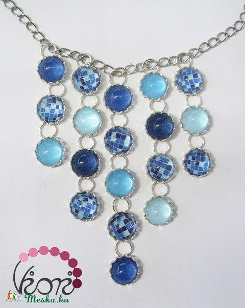 Kék mozaik üveg nyaklánc (viori) - Meska.hu
