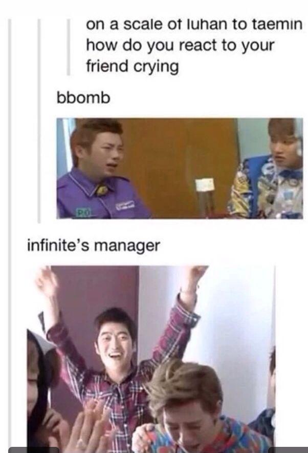 Infinite's manager lmao