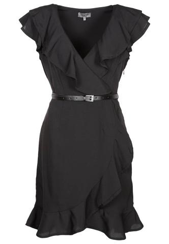 Black Ruffle Dress - This is the dress I'll be wearing to