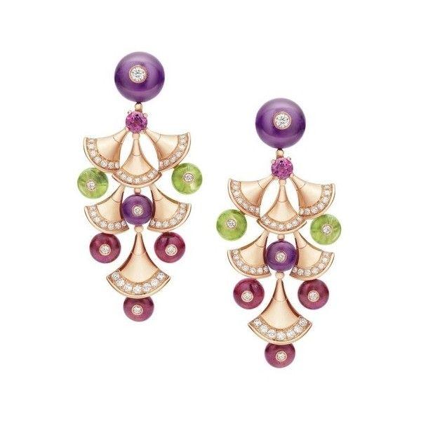 璀璨夺目:BVLGARI宝格丽DIVA顶级珠宝系列 ❤ liked on Polyvore featuring earrings