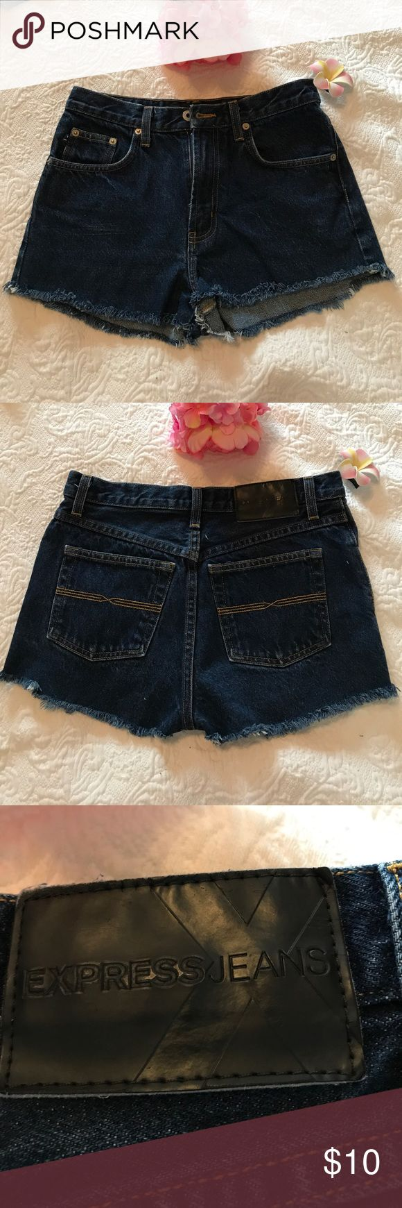 Shorts 🌞Express Blue Shorts, Size 2/3 R Blue Jeans Shorts, From Express, Size 2/3, they were Jeans my daughter cut them and converted to shorts. Express Shorts Jean Shorts