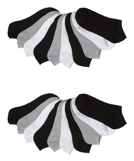 2f304bd20 Goldstone Hosiery Inc, CO. Grayscale 20-Pair No-Show Socks Set | zulily