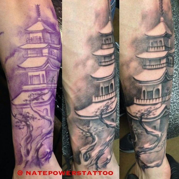 buddhist temple tattoo fitness tattoos pinterest more temple tattoo tattoo and tatoo ideas. Black Bedroom Furniture Sets. Home Design Ideas