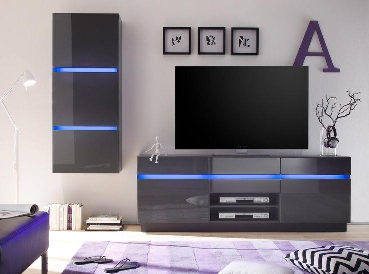 25 besten Wohnwände \/ Living Walls Bilder auf Pinterest - led beleuchtung wohnzimmer selber bauen