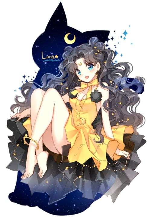 19 best Sailor Moon Luna images on Pinterest | Anime art, Drawing ...