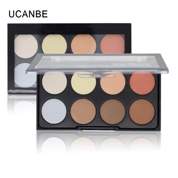UCANBE Brand Professional Makeup 8 Colors Highlighter Bronzer Contour Powder Palette Make Up Face Pressed Powder Concealer Kit