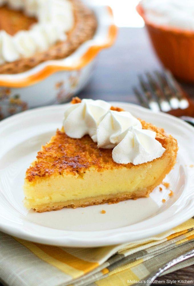 Classic Southern Buttermilk Pie Is Like A Vanilla Custard Pie With A Bit Of Zing Enjoy A Big Piec In 2020 Southern Buttermilk Pie Buttermilk Pie Recipe Buttermilk Pie
