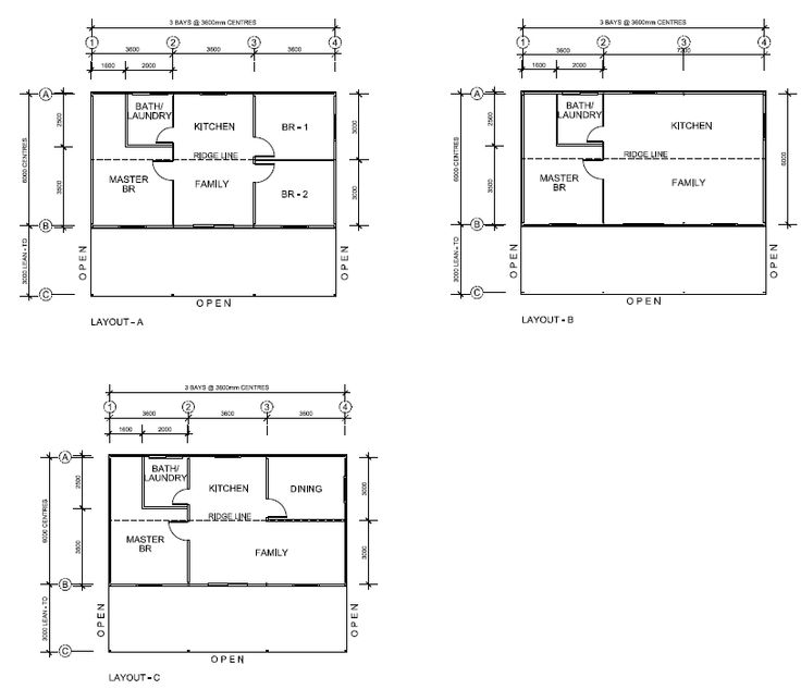 steel kit home layout #SteelKit #KitHomes #Perth #WA http://www.garagewholesalers.com.au/products/steelkithomes.aspx