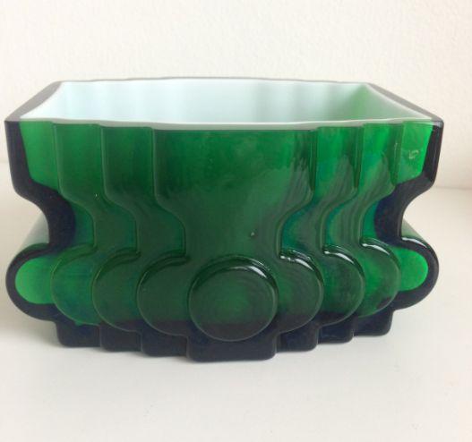 Alsterfors PO Ström. Glass vase. For sale: http://www.tradera.com/item/200708/226475198/vas-alsterfors-po-strom