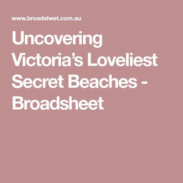 Uncovering Victoria's Loveliest Secret Beaches - Broadsheet