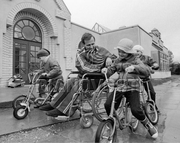 Участники велосипедных соревнований