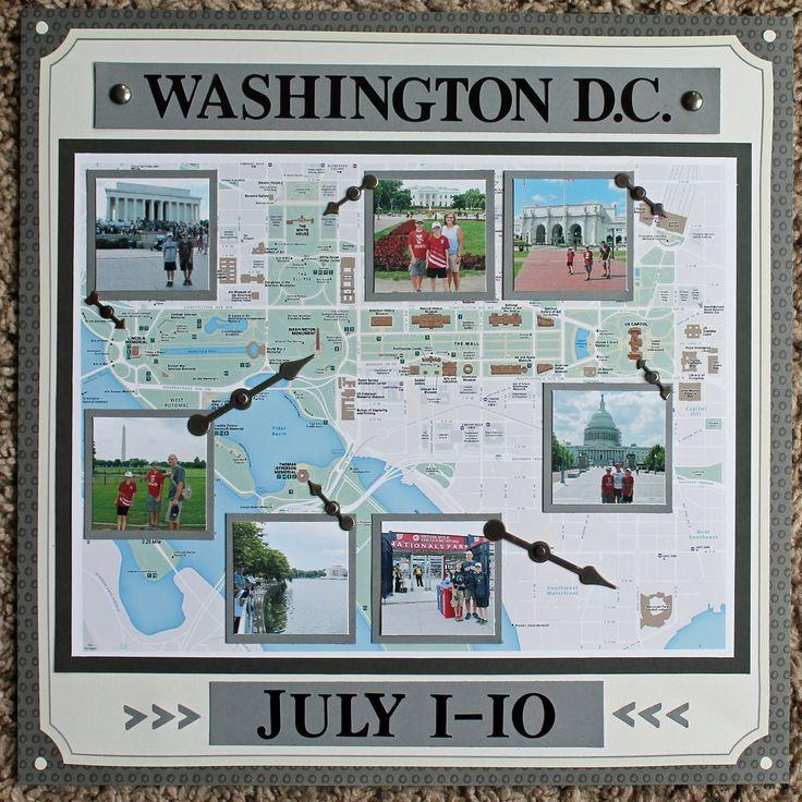 Washington DC Scrapbook Page 12x12 Layout