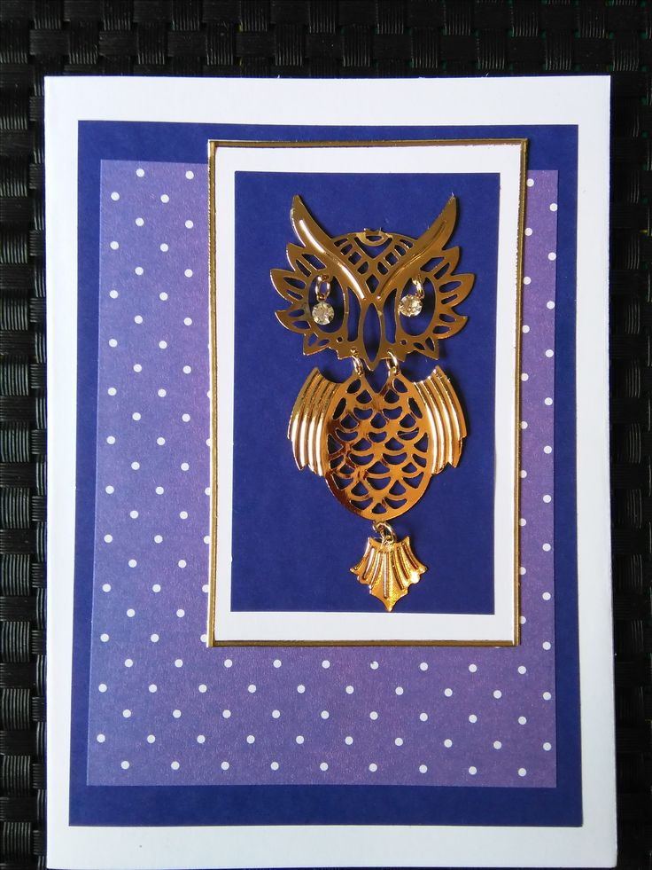 Owl card (was an earring)
