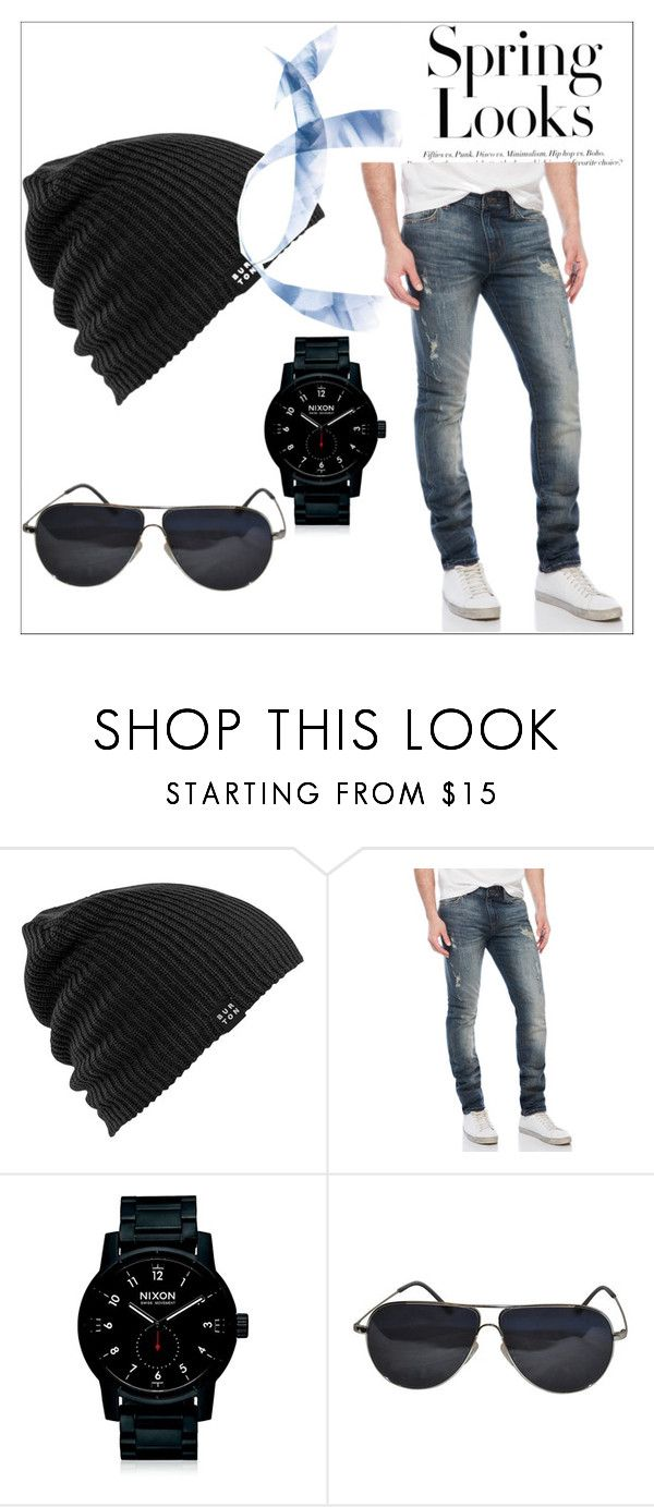"""Untitled #22"" by dzeneta-b ❤ liked on Polyvore featuring Burton, William Rast, Nixon, BMW, H&M, men's fashion and menswear"