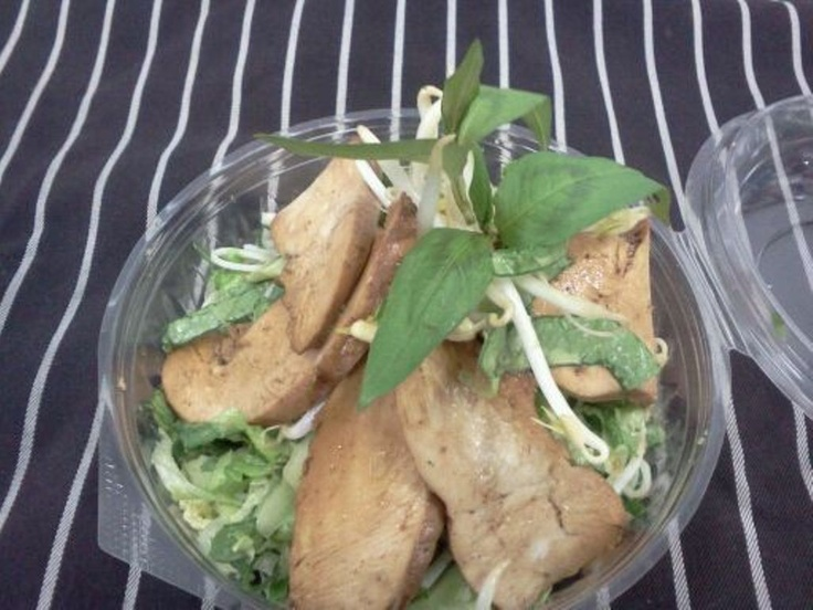 Healthy Take Away Choice - Thai Chicken & Rice Noodles Salad