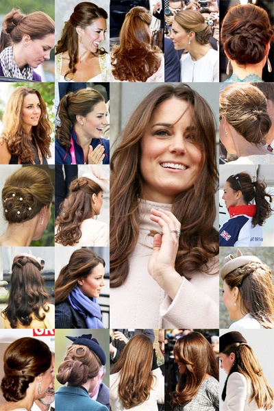 Love her hair - as a natural brunette with long hair, I often look to the Duchess for inspirations on how to style my mane.