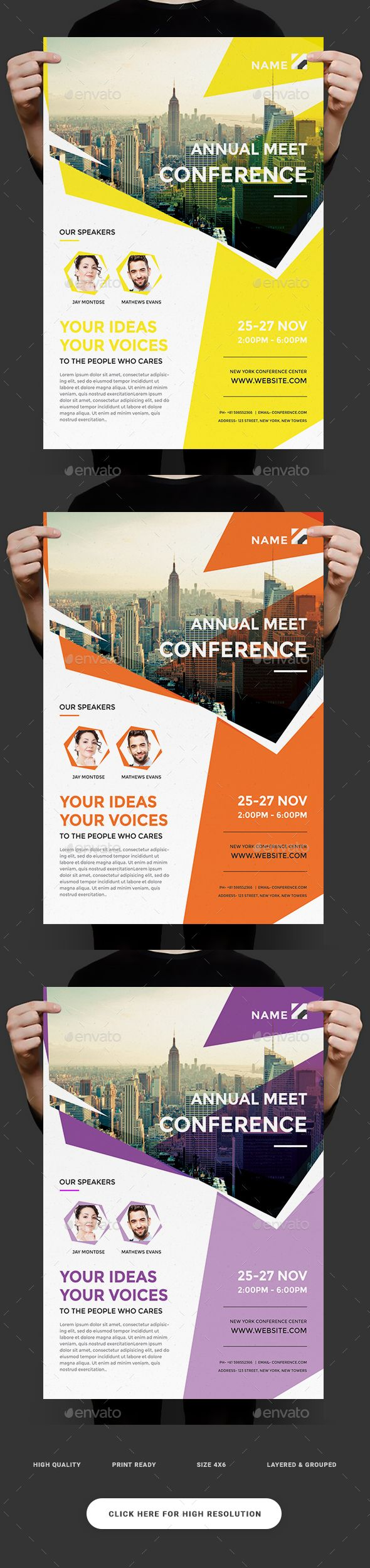 Event Summit Conference Flyer — Photoshop PSD #entrepreneur #participant • Available here → https://graphicriver.net/item/event-summit-conference-flyer/18414054?ref=pxcr