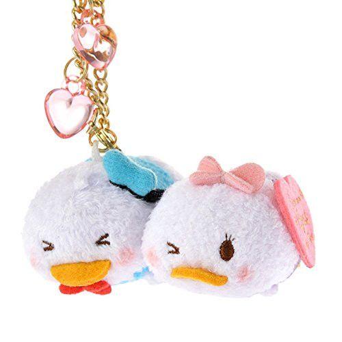 Disney stuffed animal key chain TSUM TSUM FEVER Donald & Daisy