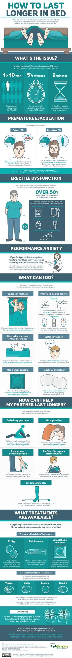 How to Last Longer in Bed #infographic