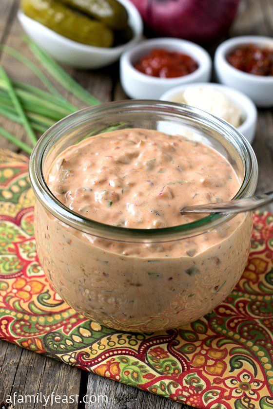 Homemade Russian Dressing - Easy to make with common ingredients and so much better than the bottled version!