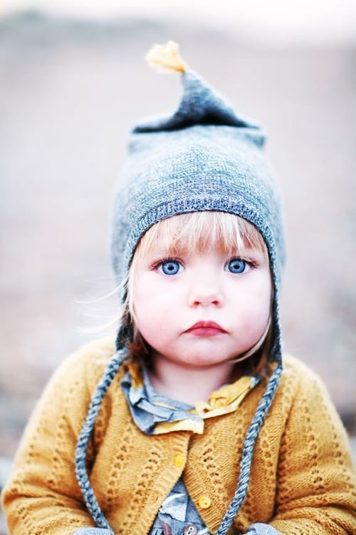 Knitted sweater and little pixie hat. #babyknits #toddlerknits #babyat #knittingforbaby