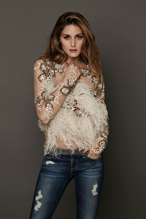 Sheer embellishments and feathers